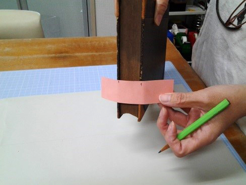 (1)本の厚みを測る